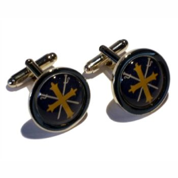 Cufflink Pair Round 16mm silver ready to wear, boxed